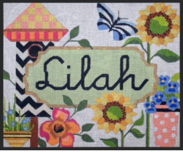Floral Name Canvas - Open Space for Name