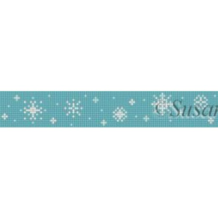 Snowflakes on Blue-Dog Collar