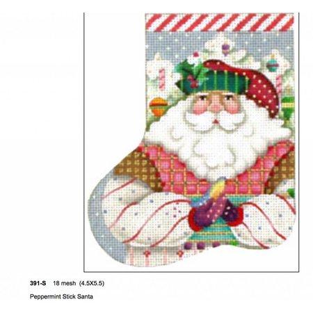 Candy Cane Santa Mini Stocking