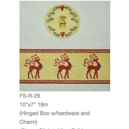 Reindeer Round Box