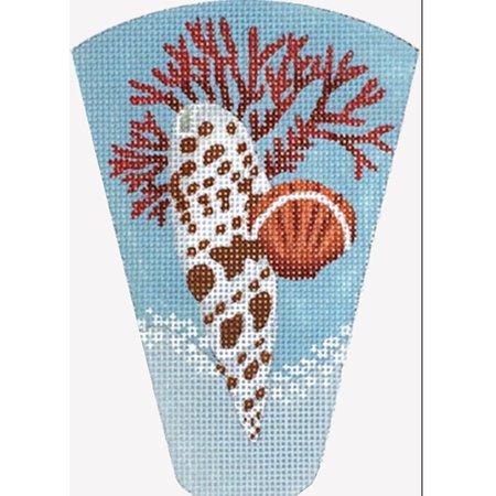 Coral Shell Scissor Case