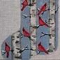 Birch Cardinal Mini Sock