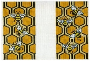Bee and Honeycomb Eye Glass Case