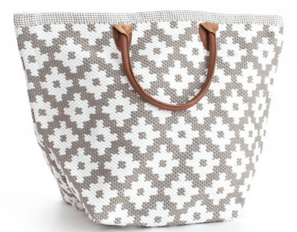 Le Tote (Grand) Field Stone and White