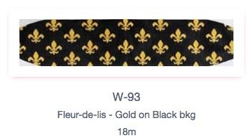 Fleur De Lis Gold & Blk Cummerbund