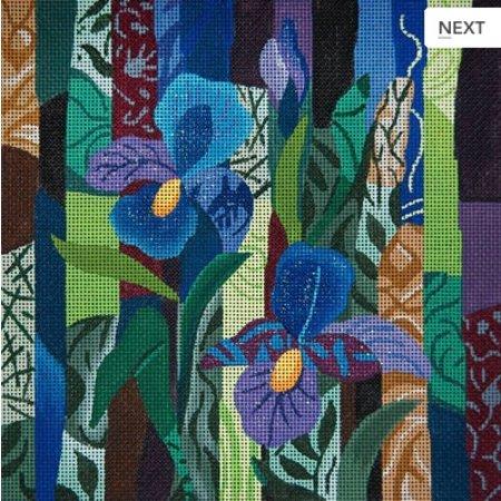Purple Iris Collage