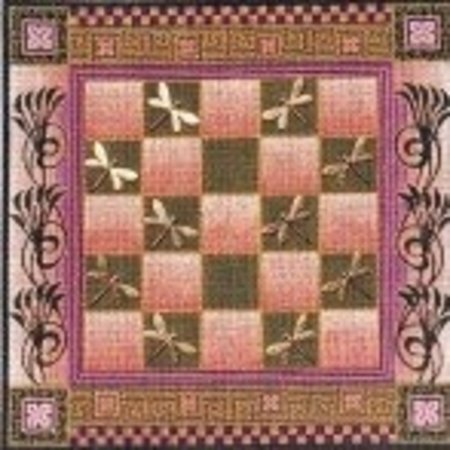 Pink and Green Checker Board