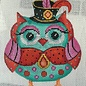 Turq Owl with Black Hat