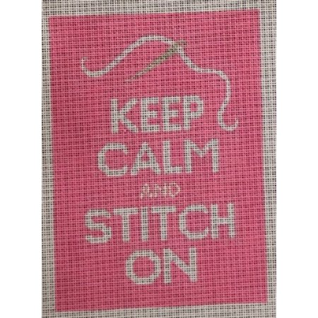 Pink Keep Calm and Stitch On