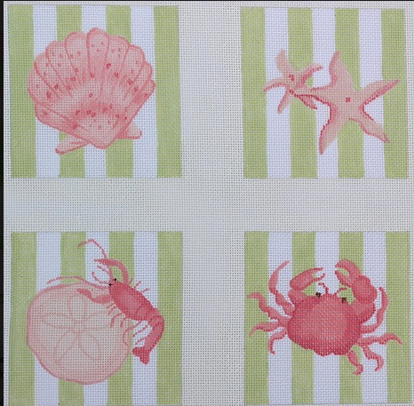 Coasters Striped Shells/Crab/lobster