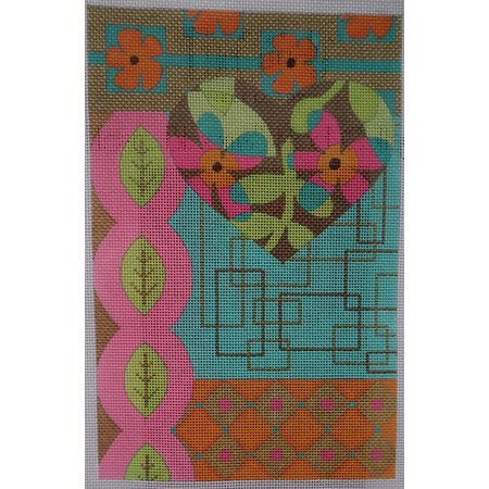 Heart Blooms Mod Collage with Stitch Guide