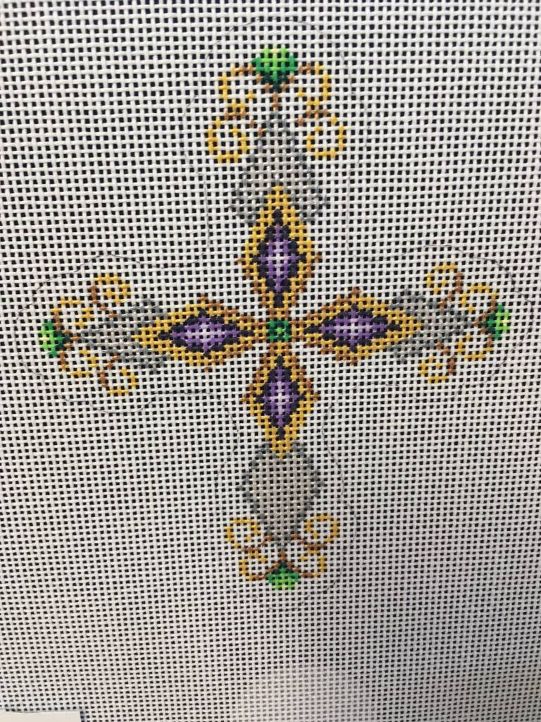 Cross Silver and Purple