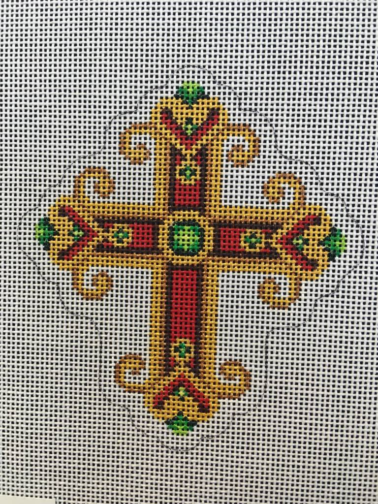 Cross Red and Gold