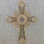 cross Silver/ Gold and Purple