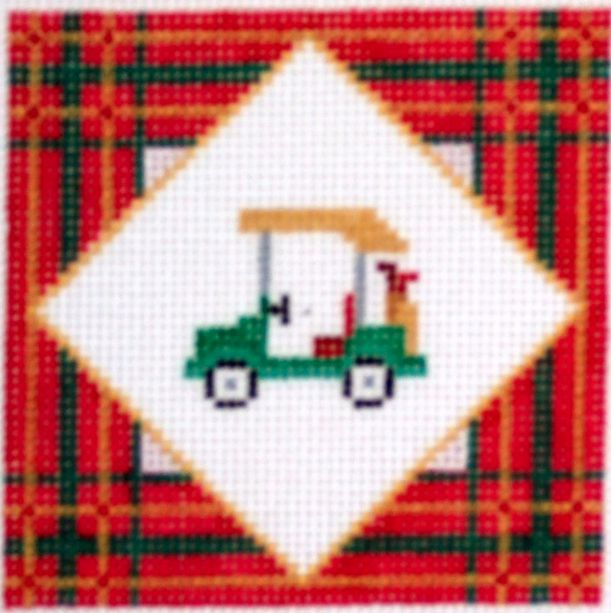 Plaid Golf Cart