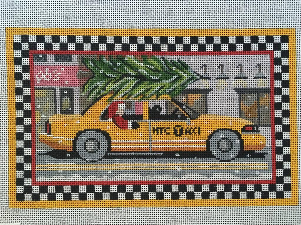 Santa NYC Cab