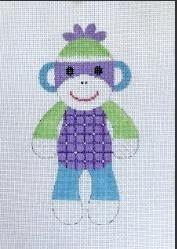 Purple Sock Monkey