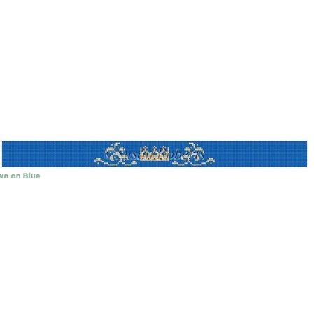 Crown on Blue Dog Collar