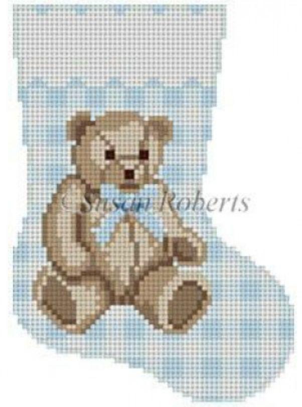 Gingham Teddy Mini Sock