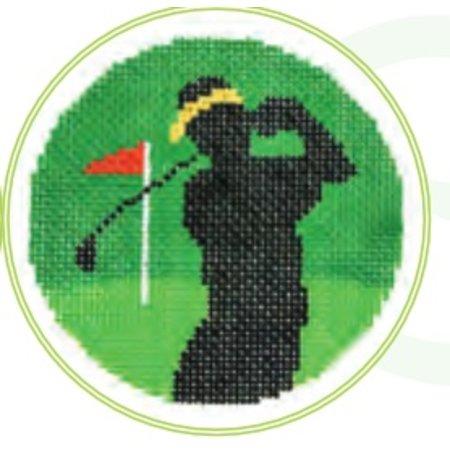 """Golfer 3"""" Round"""