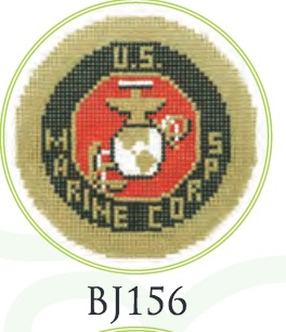 "BJ156 US Marines  3"" Round"