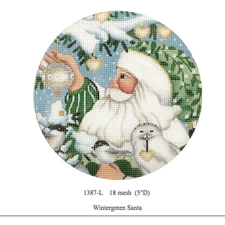 Wintergreen Santa Ornament