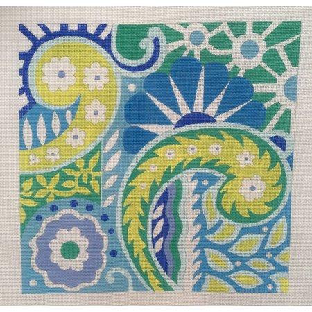 Geometric Blue/Green/Yellow AB-01