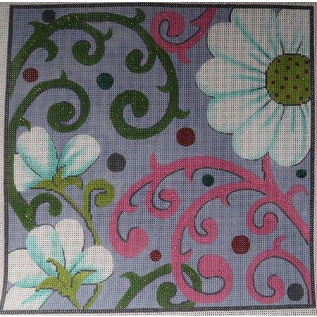 Pink/Green Geometric