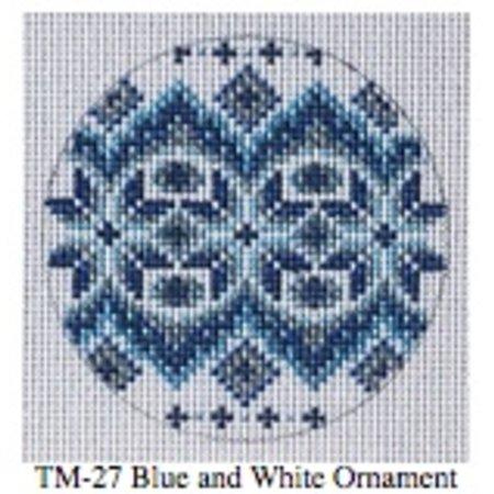 Blue/White Round