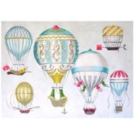 Hot Air Balloon- Multi Blue- 13 ct.