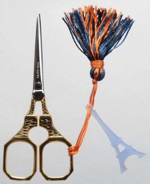 Eiffel Tower Scissors with Gold Plating
