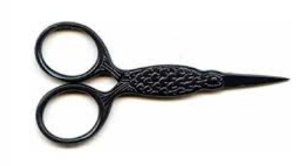 "Lantern Moon Bird Scissors 3 1/2""  Black Scissors"