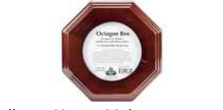 Mahogany Finish Octagon Box