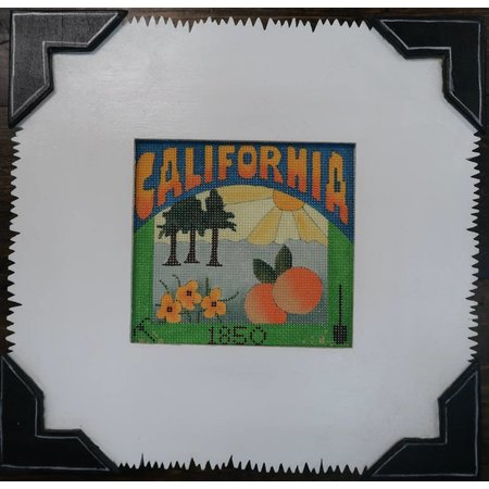 CALIFORNIA with Wood Frame