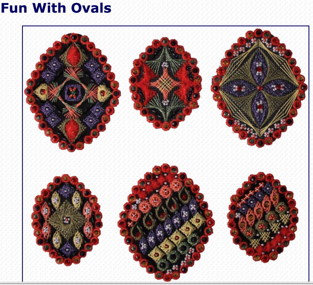 FUN WITH OVALS -- Counted Work