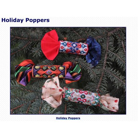 Holiday Poppers - Counted Needlepoint
