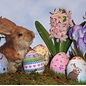 3d Stand up Egg- Lambs & Posies 18ct