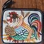 Coin Purse (Rooster) with Suede Back