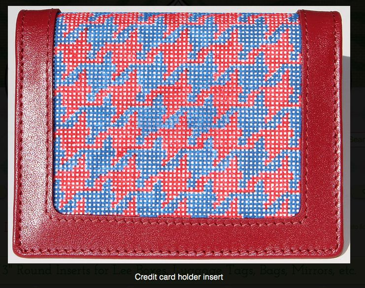 Blue and Red Houndstooth CC Insert