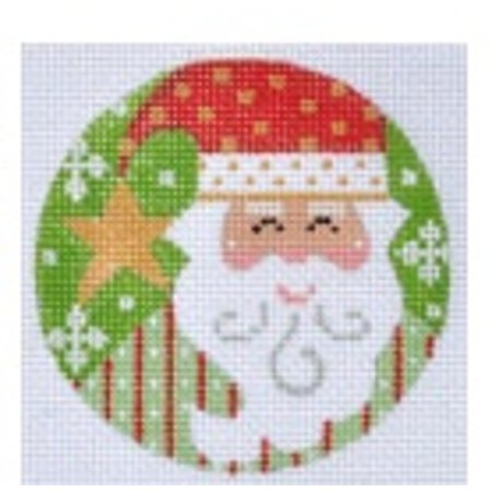 Red and Green Santa Ornament