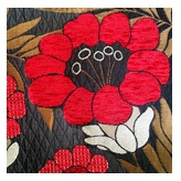 Hug Me Zippered Utility Case  Poppies