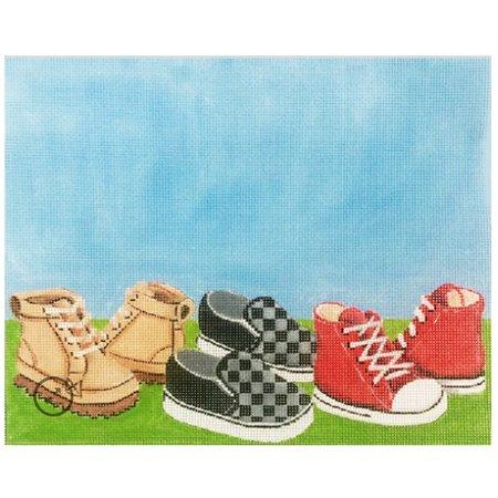 Boys Shoes Birth Announcement