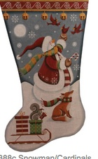 Snowman Cardinals 13 mesh -- TOE TO RIGHT