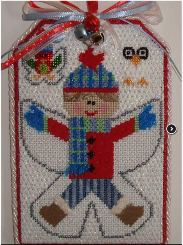 Boy Angel Tag Ornament- Not Stitched