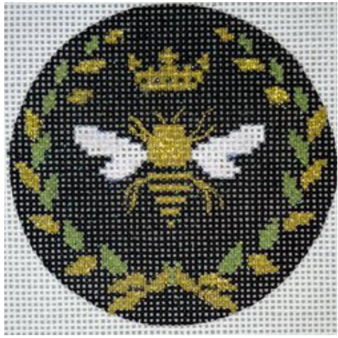 Round Bee Black with Gold