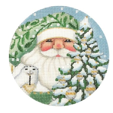Wintergreen Santa Round Ornament