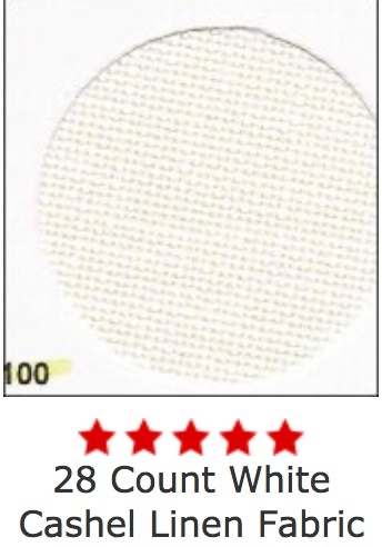 Cashel White 28 Ct, 55 Inch, Per Inch
