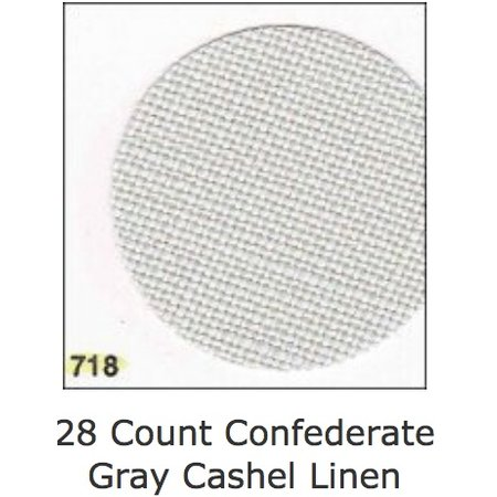 Cashel Ant White 28 ct, 55 Inch, Per Inch