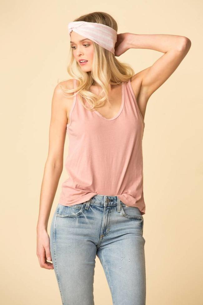 AMO AMO Sunday Tank - Rose Gold
