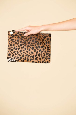 Clare V. Clare V. Leopard Clutch